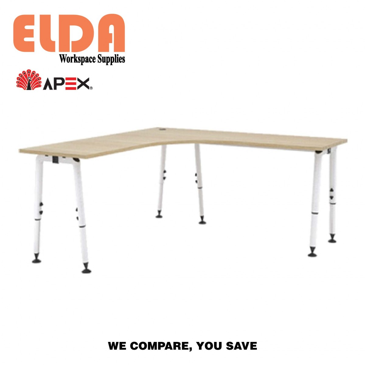 Apex Alulink L Shape Table